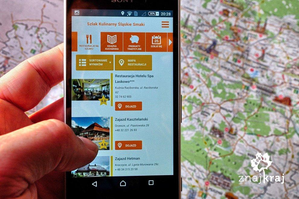 Aplikacja na telefon Śląskich Smaków