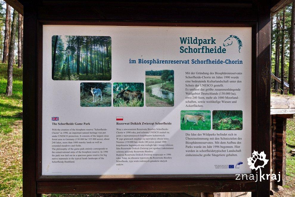 Tablice informacyjne po polsku w Schorfheide