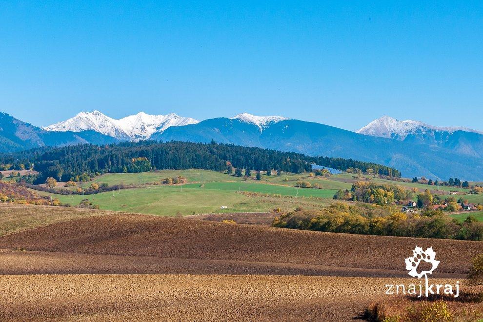 Widok na słowackie Tatry