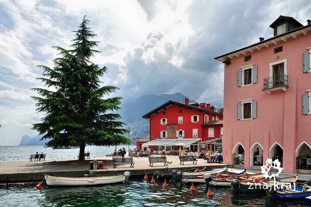 Miasteczko Torbole nad Lago di Garda