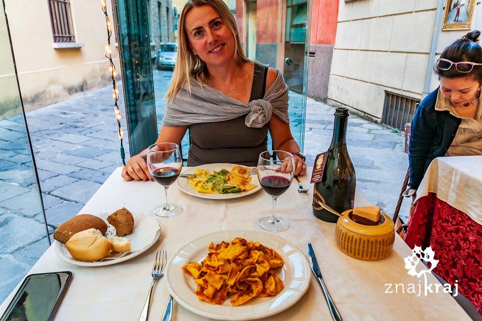 Włoska kolacja w Parmie