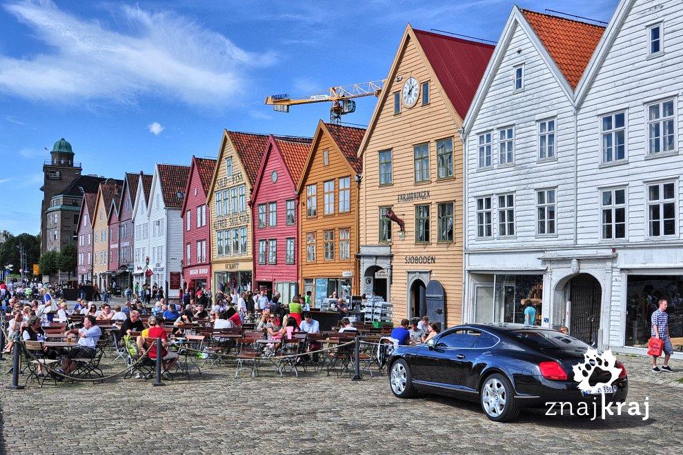 Zabytkowa dzielnica Bryggen w Bergen