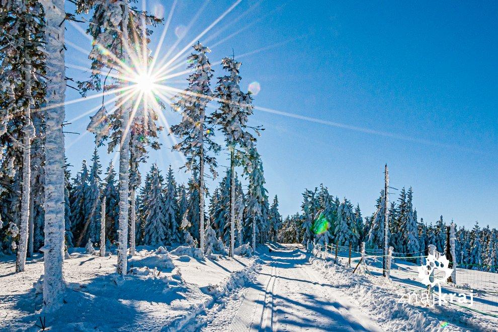 Zimowe widoki w Masywie Śnieżnika