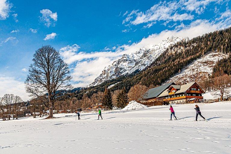 Narciarska trasa biegowa w Ramsau am Dachstein