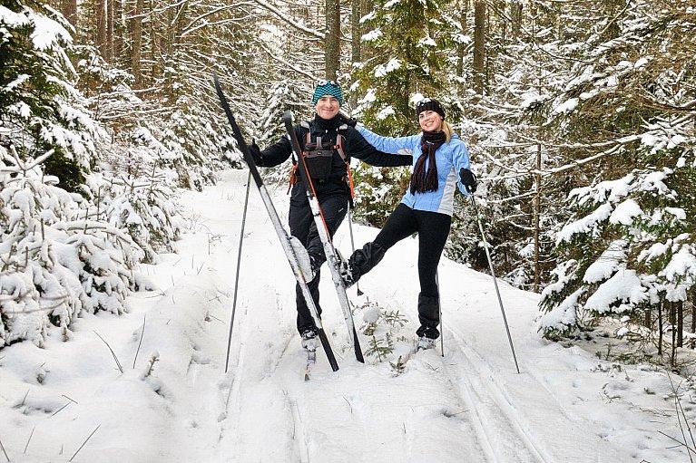 Po Lasach Mirachowskich na nartach