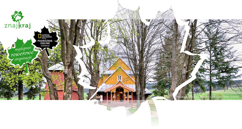 Aleja przed cerkwią w Gładyszowie
