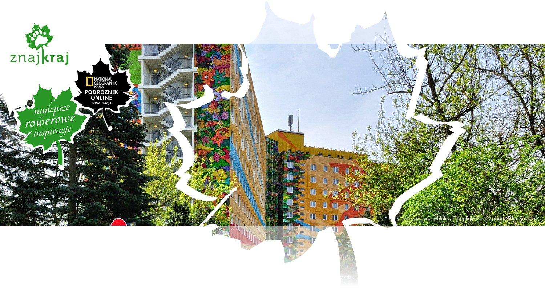 Artystycznie malowany blok w Templinie