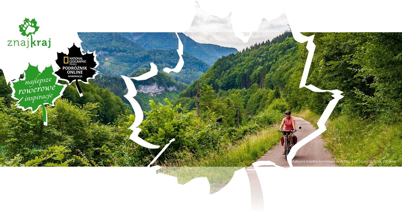 Asfaltowa ścieżka rowerowa w Austrii