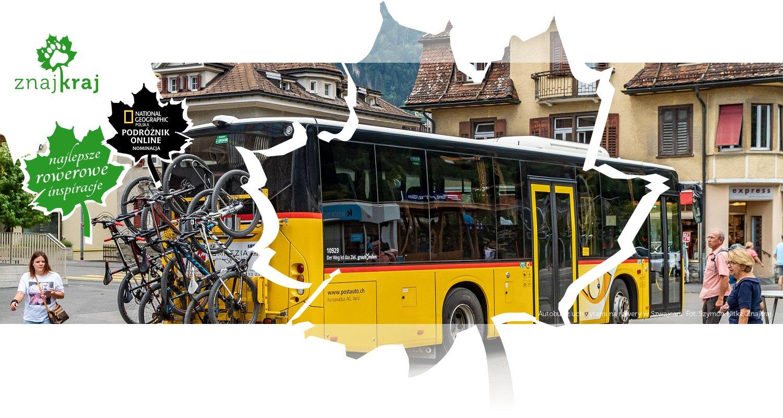 Autobus z uchwytami na rowery w Szwajcarii