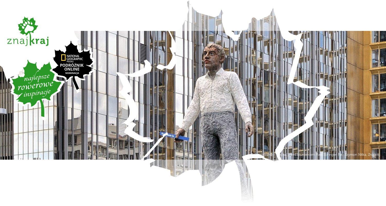 Balansowanie - rzeźba przed biurowcem Axel Springer