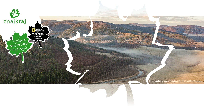 Bieszczadzki krajobraz z lotu ptaka