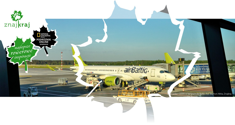 Bombardier CS300 w barwach Air Baltic