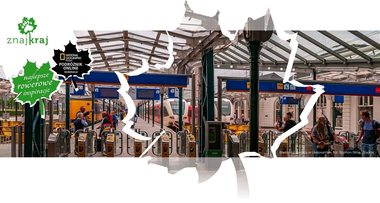 Bramki na dworcu w Leeuwarden
