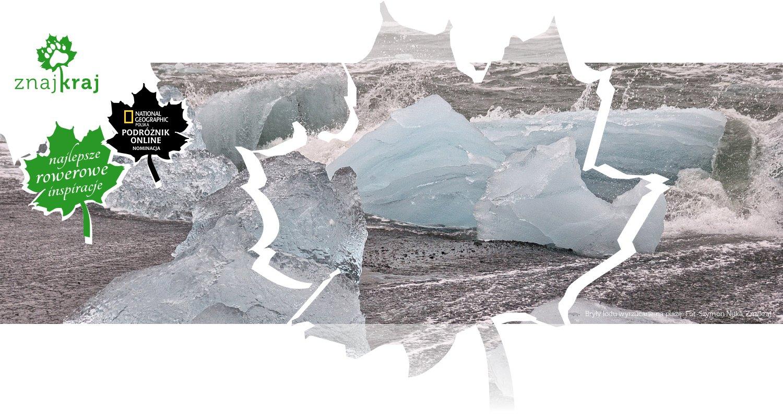 Bryły lodu wyrzucane na plażę