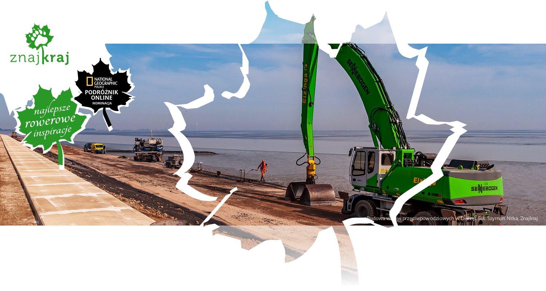 Budowa wałów przeciwpowodziowych w Delfzijl