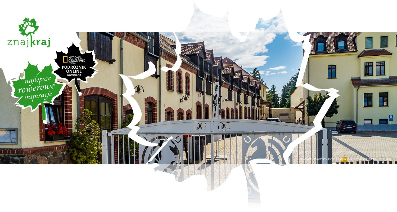Budynki stadniny koło Lipska