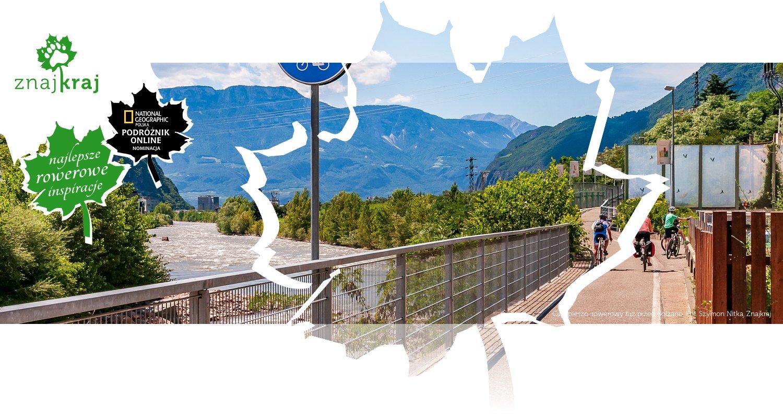 Ciąg pieszo-rowerowy tuż przed Bolzano