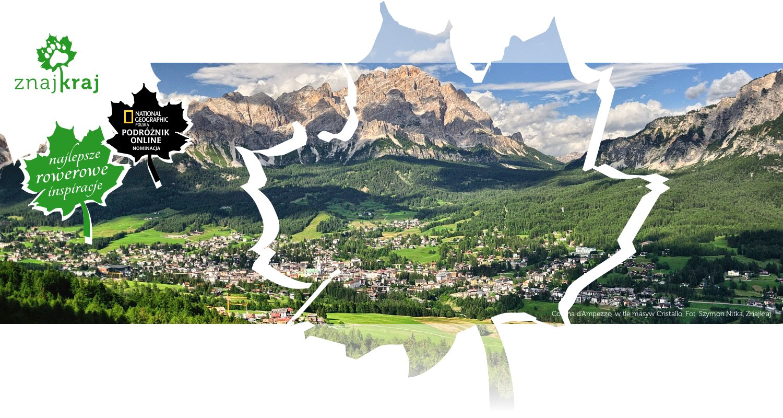Cortina d'Ampezzo, w tle masyw Cristallo