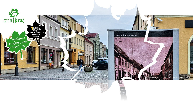 Dawny widok ulicy w Żorach