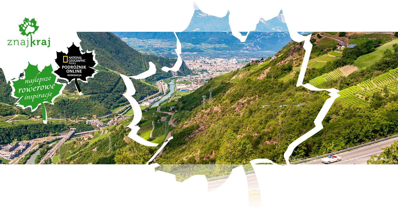 Długi zjazd serpentynami do Bolzano