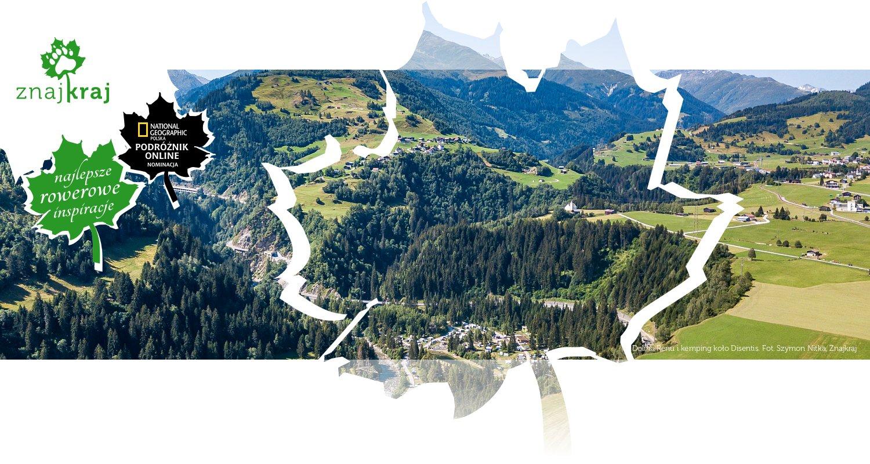 Dolina Renu i kemping koło Disentis