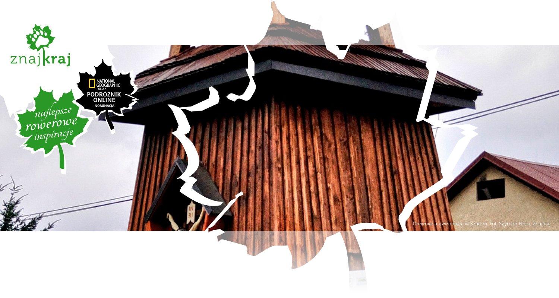Drewniana dzwonnica w Szarem