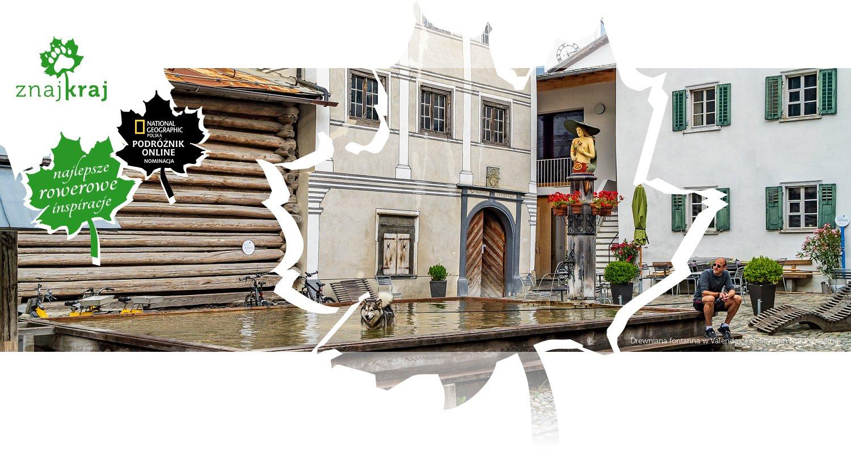 Drewniana fontanna w Valendas