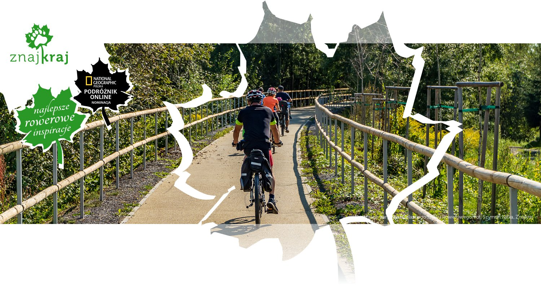 Drewniane bariery na Żelaznego Szlaku Rowerowego