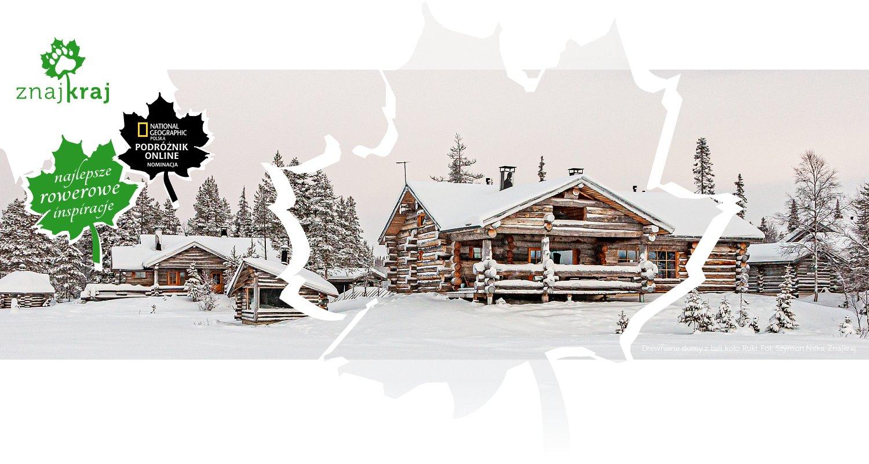 Drewniane domy z bali koło Ruki