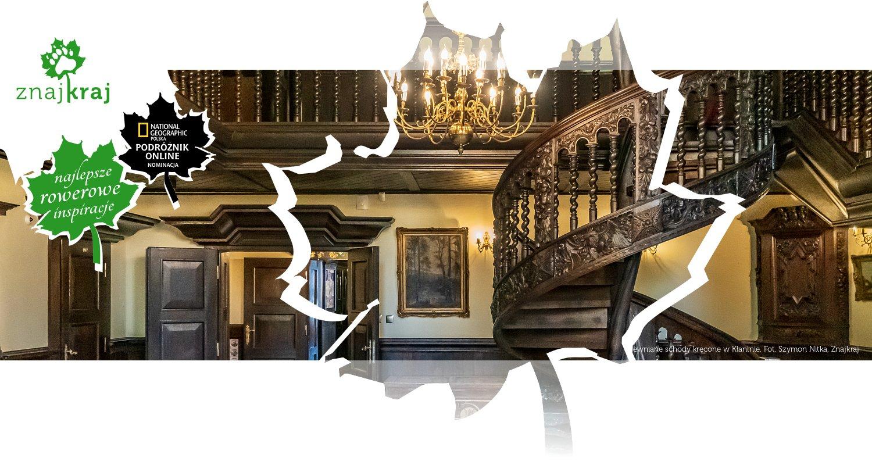Drewniane schody kręcone w Kłaninie