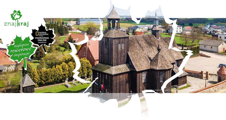 Drewniany kościół w Rożentalu na Mazurach Zachodnich