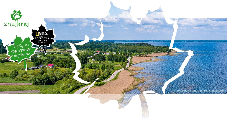 Droga nad jeziorem Raźno