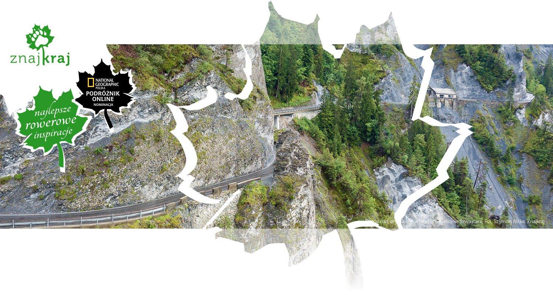 Droga nad urwiskiem w Wielkim Kanionie Szwajcarii