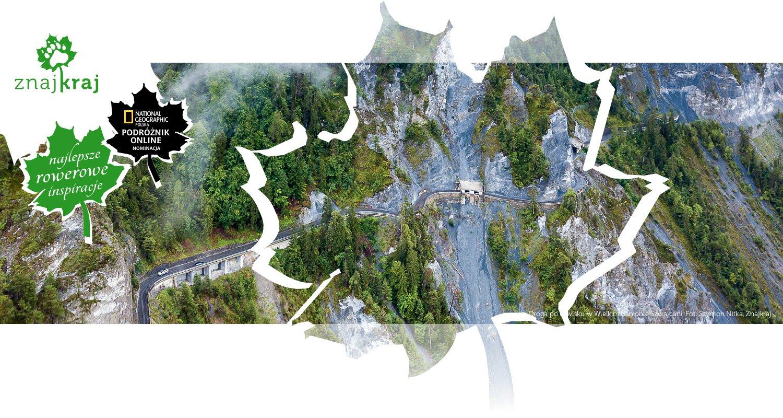 Droga po urwisku w Wielkim Kanionie Szwajcarii