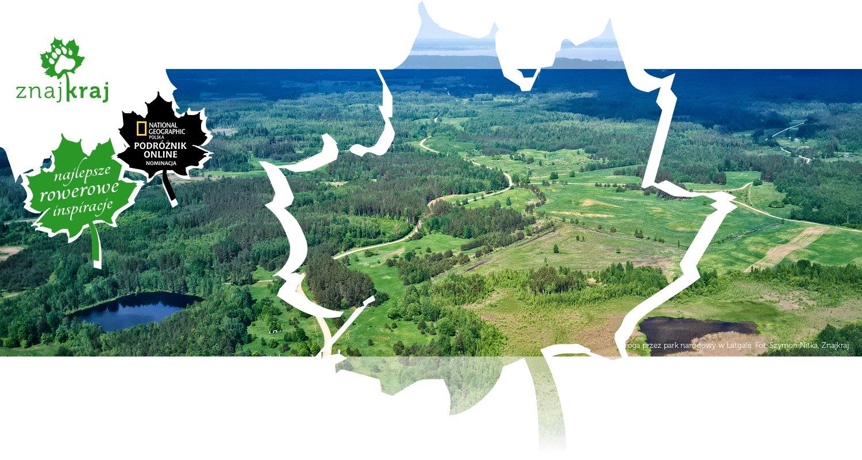 Droga przez park narodowy w Łatgalii