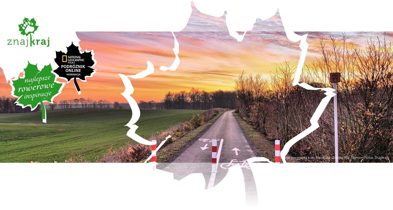 Droga rowerowa koło Trzcińska-Zdroju