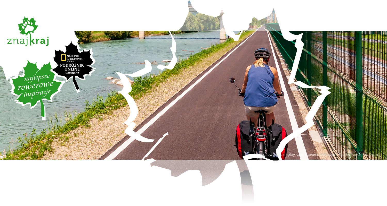 Droga rowerowa między rzeką a torami kolejowymi