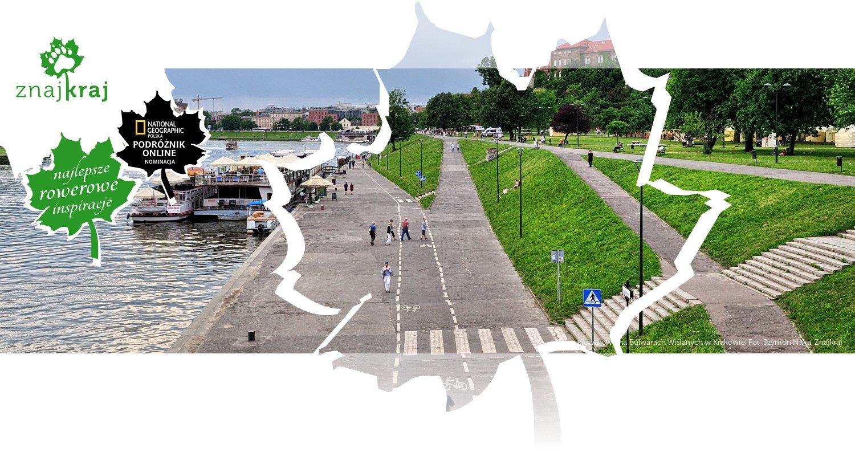 Droga rowerowa na Bulwarach Wiślanych w Krakowie