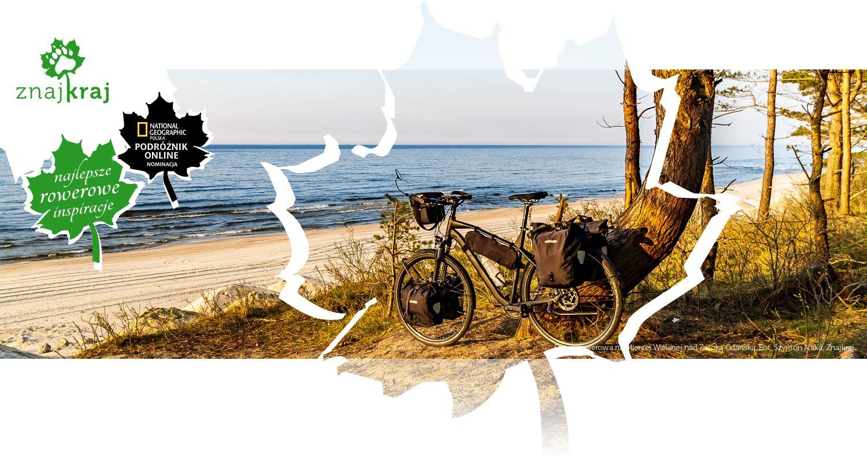 Droga rowerowa na Mierzei Wiślanej nad Zatoką Gdańską