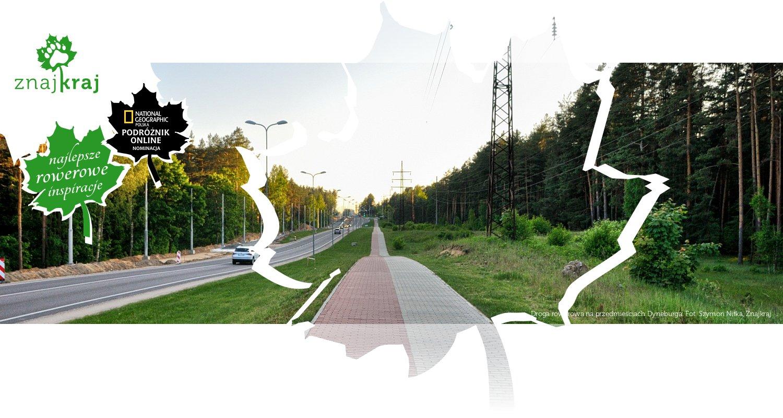 Droga rowerowa na przedmieściach Dyneburga