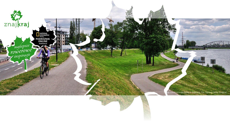 Droga rowerowa nad Wisłą w Krakowie