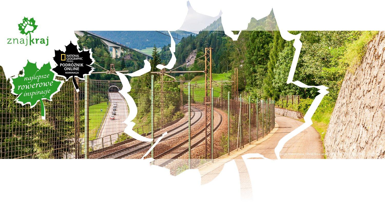 Droga rowerowa, obok linia kolejowa