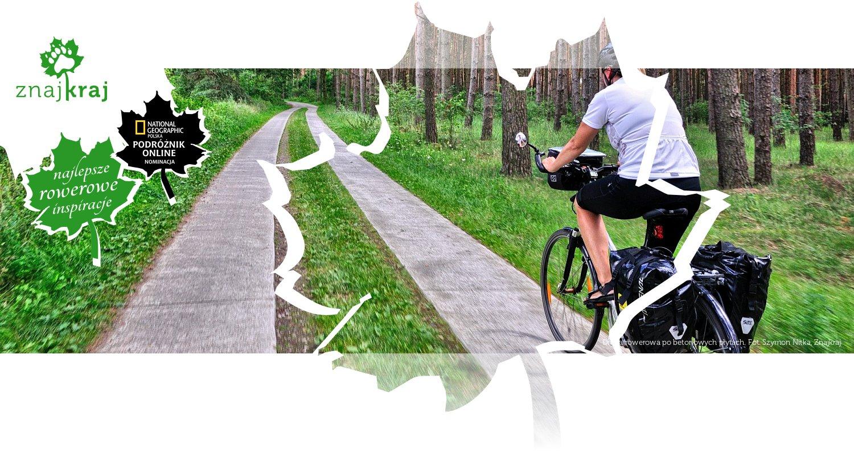 Droga rowerowa po betonowych płytach