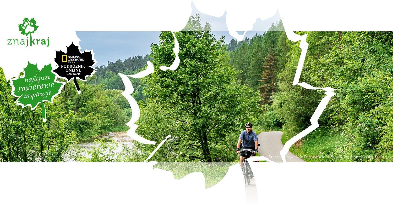 Droga rowerowa Velo Dunajec koło Harklowej