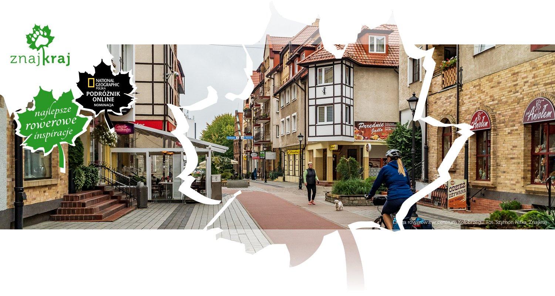 Droga rowerowa w centrum Kołobrzegu