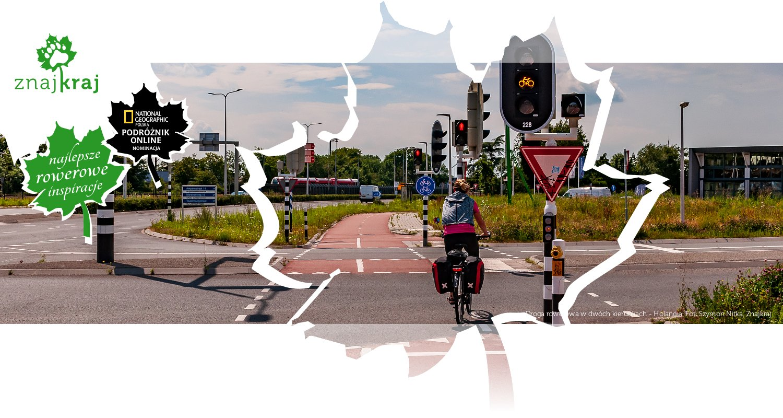 Droga rowerowa w dwóch kierunkach - Holandia