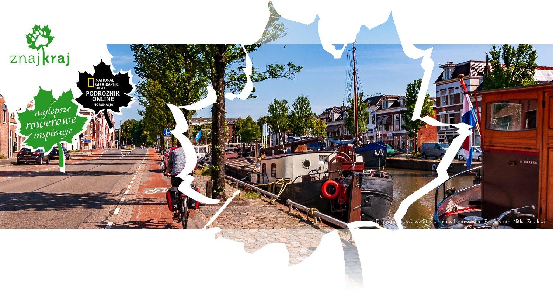 Droga rowerowa wzdłuż kanału w Leeuwarden