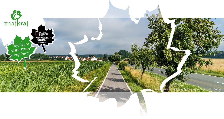 Droga rowerowa wzdłuż szosy we Frankonii