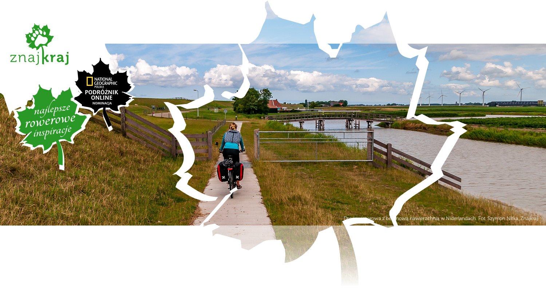 Droga rowerowa z betonową nawierzchnią w Niderlandach