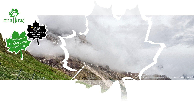 Droga w chmurach na Passo Rolle